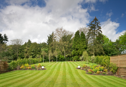 Professional striping displays the pride taken in a beautifully manicured lawn!